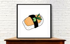 Modern sushi sushi wall art digital download by MyDaisyDownloads