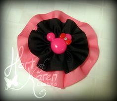 Minnie Mouse Inspired Hair Bow Valentine by HartOfKarenCreations, $10.00