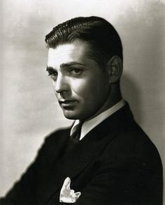 Clark Gable photographed by George Hurrell