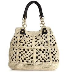 Olivia + Joy: Crocheted Handbag, Caribbean Beat Tote