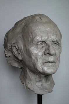 "Adam Pyś Sculpture Portrait in the clay. ""Wise Man"" 2016"