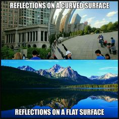 Two completely different sizes for the curvatures shown, ding dong flat earthers.