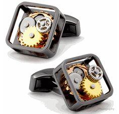 Tateossian Gear Gunmetal Cufflinks