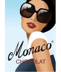"""""""Monaco"""" by Jason Brooks. Vintage style advertising poster for imaginary french chocolate company-delicious! Vintage Advertisements, Vintage Ads, Vintage Style, Vintage Fashion, Monaco, Jason Brooks, Advertising Poster, Advertising Design, Art Deco Posters"""