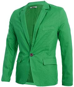 Partiss Mens Slim Fit One Button Outerwear Large,Green Fancy Dress Store http://www.amazon.com/dp/B00JXGXLL2/ref=cm_sw_r_pi_dp_p4-xwb0S5HG00