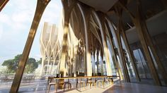 Zaha Hadid Architects unveiled the design for the new Sleuk Rith Institute in Cambodia.