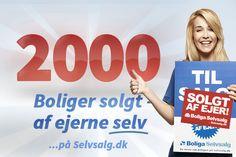 Wauw! 2.000 mennesker har nu solgt deres bolig SELV! Tillykke til jer alle! Du kan også godt selv! Sæt din egen bolig til salg i dag på Boliga Selvsalg - Selvsalg.dk. #boligaselvsalg #selvsalg #selvsalgdk #detskalfejres #dukangodtselv #tillykke