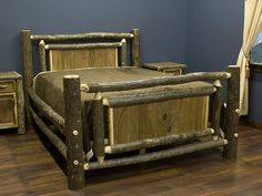 Real Walnut Rustic Hickory Log Bed In 2019 Woodworkingrustic within dimensions 1024 X 768 Rustic Hickory Bedroom Furniture - A good number with the Rustic Bedroom Furniture, Rustic Bedding, Reclaimed Wood Furniture, Bed Furniture, Unique Furniture, Pallet Furniture, Bedroom Decor, Master Bedroom, Country Bedding