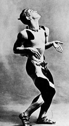 Vaslav Nijinsky as the faun at the premiere of the Ballets Russes' production of Afternoon of the Faun at the Theatre du Chatelet in Paris, May 1912