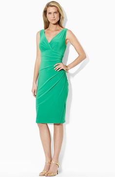 Lauren by Ralph Lauren Shirred Jersey Dress available at Nordstrom