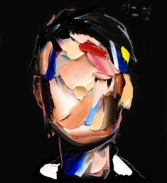 Thick Strokes of Paint Create Featureless Portraits in Abstracted Paintings by Joseph Lee Abstract Faces, Abstract Art, Abstract Portrait Painting, Art Visage, Colossal Art, Arte Popular, Cool Paintings, Portrait Art, Face Art