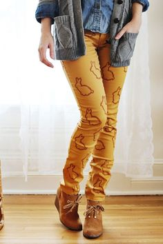 because all @Amy Marie Tripp is missing is a pair of DIY bunny pants. you could use any other stencil too...