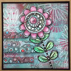 PaperArtsy: NEW from PaperArtsy {Eclectica³ Tracy Scott} Jan 2017 Card Making Inspiration, Art Journal Inspiration, Making Ideas, Drawing Journal, Art Journal Pages, Art Journals, Junk Journal, Tracy Scott, Flower Doodles