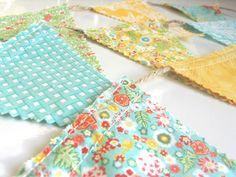 Spring Fresh  A Beautiful Mini Fabric Bunting