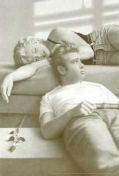 James Dean with Marilyn Monroe