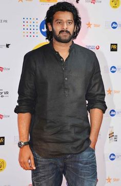 Prabhas during Baahubali 2 first look launch in 2017...