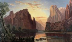 Temples of the Rio Virgin...  by Albert Lambourne  Giclee Canvas Print  Repro