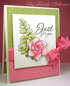 I've just bought the Growing Green stamp set from Stampin' Up! and would love to make something as beautiful as this.