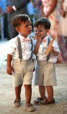 Someone will wear this at my wedding. Hopefully I have a nephew by my wedding day who can dress like this and be my ring bearer! Perfect Wedding, Dream Wedding, Wedding Summer, Trendy Wedding, Barbados Wedding, Boat Wedding, Elegant Wedding, Hawaiin Wedding, Nautical Wedding
