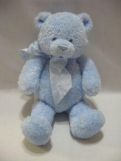 """Gund Sweetkins Teddy Bear 11"""" Plush Blue Sewn Eyes Lovey Stuffed Animal   eBay"""