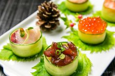 Cucumber Wrapped Sushi (for Japanese New Year)