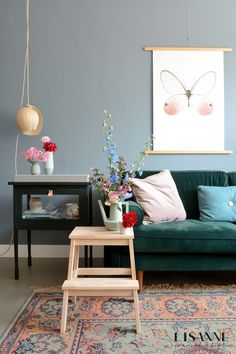 [New] The 10 Best Home Decor Today (with Pictures) Living Room Inspiration, Home Decor Inspiration, Home Interior Design, Interior Architecture, Living Room Designs, Living Room Decor, Colorful Apartment, Deco Floral, Blue Rooms
