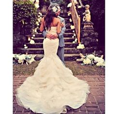Fishtail wedding dress! This is the one i saw the other day xx
