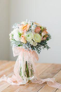Wedding Bouquet Recipe ~ A Pretty Spring Posy in Peach