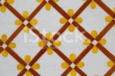 vintage ceramic tile - fotografia de stock royalty-free