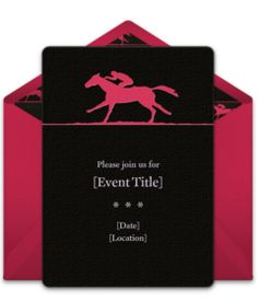 Free Kentucky Derby invitations! Stylish Kentucky Derby online invitations you can personalize and send via email.