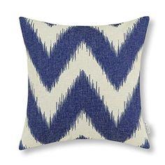 "18"" $12. Euphoria Contempo Home Decorative Throw Pillow Cushion Cover Pillowcase Shell Cotton Linen Blend Fantasy Zigzag Wave Lines Navy Blue Color 18 X 18 Inches Euphoria http://www.amazon.com/dp/B00JN9JIZC/ref=cm_sw_r_pi_dp_2eE2wb17CBG9P"