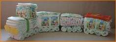 Handicraft instructions diaper train yourself, make diaper train, very simple . - Handicraft instructions Diaper train yourself, tinker train from diapers, very easily in a few step - Best Baby Shoes, Baby Boy Shoes, Baby Boy Outfits, Sewing Baby Clothes, Trendy Baby Clothes, Couches, Diaper Train, Baby Nursery Themes, Diy Baby Gifts