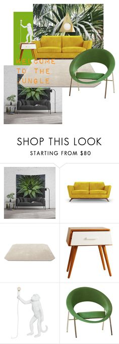 """""""Welcome to the Jungle"""" by tammy-davidson on Polyvore featuring interior, interiors, interior design, home, home decor, interior decorating, Joybird, &Tradition, Porthos Home and Seletti"""
