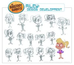 animation::cartoon::illustration::character design::art::design::drawing::sketch::mukpuddy::mukpuddy animation::the barefoot bandits::tvnz::nz on air::tv2::new zealand::gif::animated::model sheet