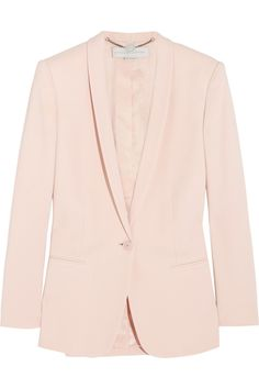 The pastel-pink hue of Stella McCartney's 'Mattea' blazer showcases her impeccable tailoring perfectly. Cut from stretch-cady, this sharp piece is lined in satin-twill to ensure it slips over lightweight knitwear or a crisp shirt with ease.