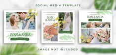 YusufSangdes | Freepik Social Media Template, Floral Wedding, Wedding Colors, Social Dresses, Minimal Wedding, Instagram Wedding, Instagram Story Template, Templates, Wedding Story