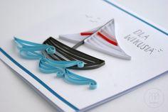 Żeglarska kartka dla chłopaka | Kartki ręcznie robione, zaproszenia ślubne handmade Poznań