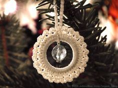 Crochet Christmas ornament tutorial
