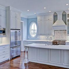 Spectacular white kitchen by Allison Ramsey Architects