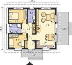 Projekt domu Cavalino LMB77 73,24 m² - koszt budowy - EXTRADOM