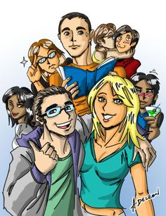 Big Bang Theory - Comic style - As they see themselves.