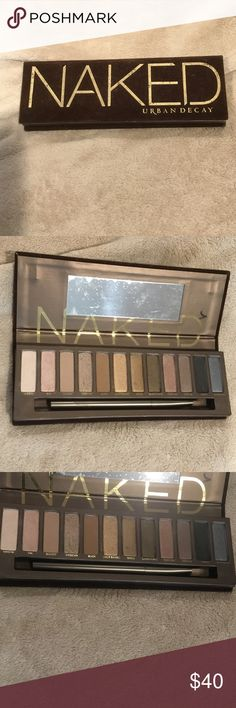 UD brand NAKED eyeshadow  palette -BARELY USED❣ Urban Decay brand NAKED eyeshadow palette❣ BARELY USED, truly!!! I have all excellent reviews  & do fast shipping! Price firm. Urban Decay Makeup Eyeshadow