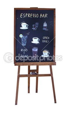 Coffee menu blackboard stand — Stock Photo © jcsmilly #39144249
