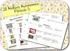 Ateliers autonomes période 5 MS-GS School Organisation, Grande Section, Ms Gs, Pre School, Life Skills, Mathematics, Homeschool, Classroom, Teacher