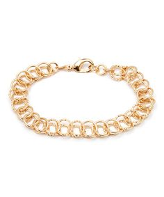 Look what I found on #zulily! Gold Diamond-Cut Circle-Link Chain Bracelet by Sevil Designs #zulilyfinds