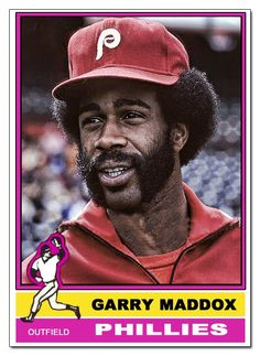 Garry Maddox before dropping THE fly ball