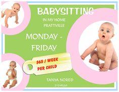 15 best babysitting flyer ideas images on pinterest babysitting