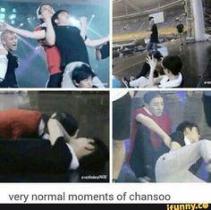 Chanyeol and Kyungsoo.