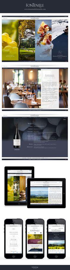 Fontenille www.domainedefontenille.com #webdesign #domaine #hotel #restaurant #gastronomique