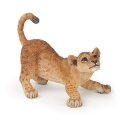 Lion Young Playing Papo   Worldwide Shipping www.minizoo.com.au